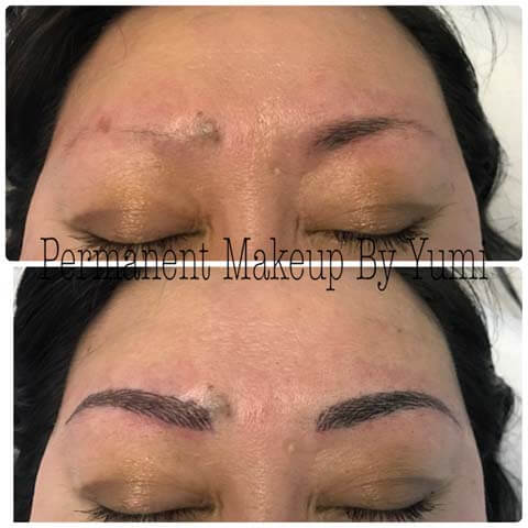 semi-permanent makeup before and after