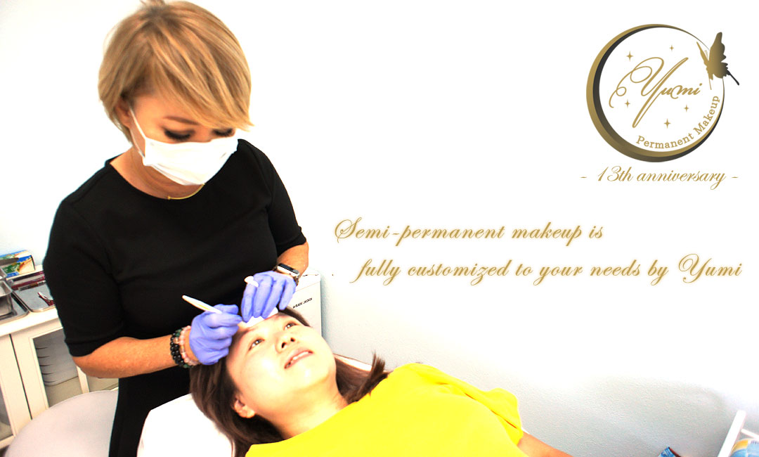 Semi-permanent eye makeup is fully customized to your needs by Yumi